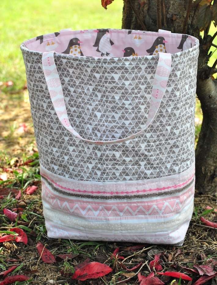 1 hour quilted tote bag free sew modern bags Interesting Quilted Tote Bag Pattern Gallery