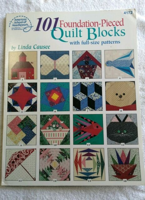 101 foundation qult blocks with full size patterns linda causee sewing quilting Interesting Full Size Quilt Patterns Gallery