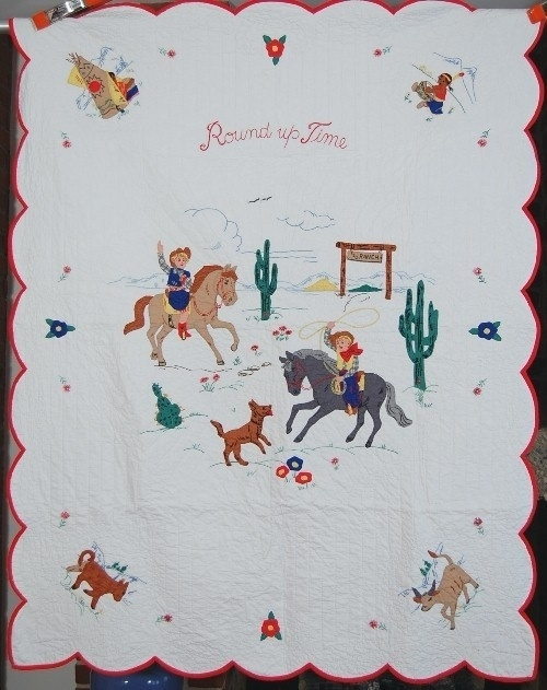 113 best vintage applique ba quilts images on pinterest ba Interesting Vintage Cowboy Quilt Gallery