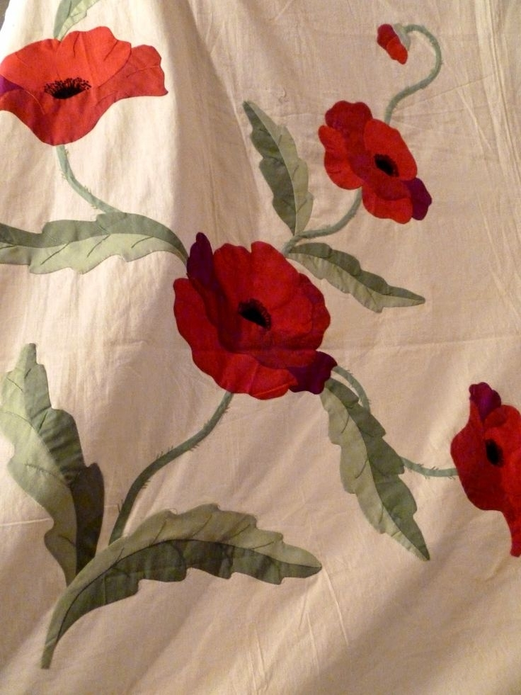 132 best poppy quilts images on pinterest flower quilts Cool Vintage Poppy Quilt Pattern