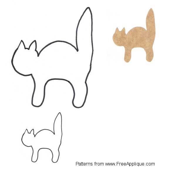 14 cat patterns free applique patterns Elegant Cat Applique Quilt Patterns