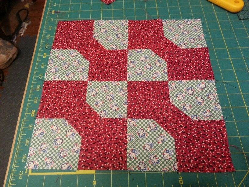 1st 12 12 inch bow tie quilt block for history project Interesting Bow Tie Quilt Pattern History Gallery