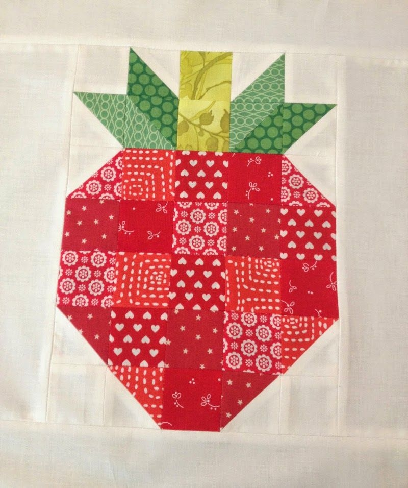 21 cute fruit projects to sew barn quilts quilts Elegant Strawberry Quilt Pattern Inspirations