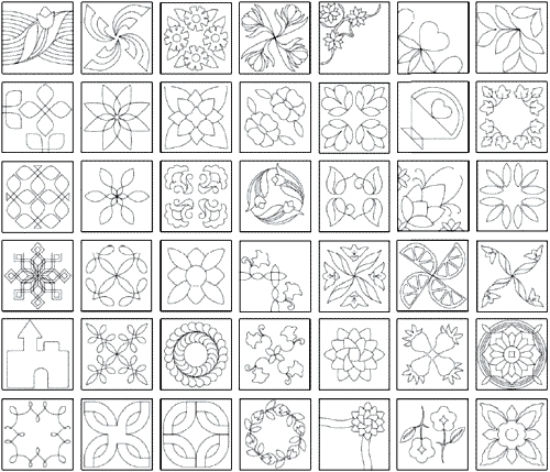 25 flower quilt patterns and quilting designs spring quilt Interesting Quilting Pattern Templates