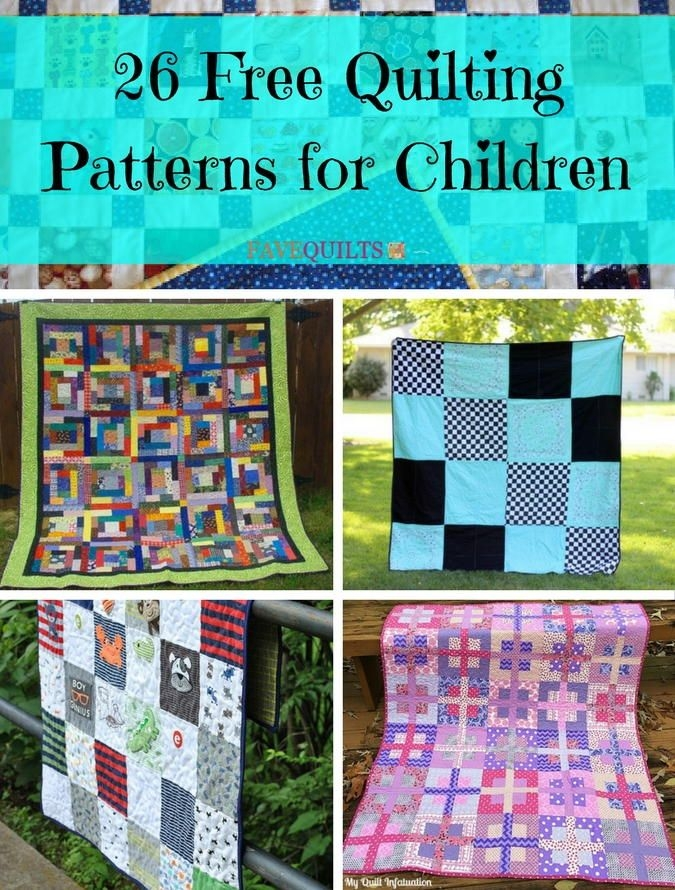 26 free quilting patterns for children kid quilts Cozy Childrens Patchwork Quilt Patterns Inspirations
