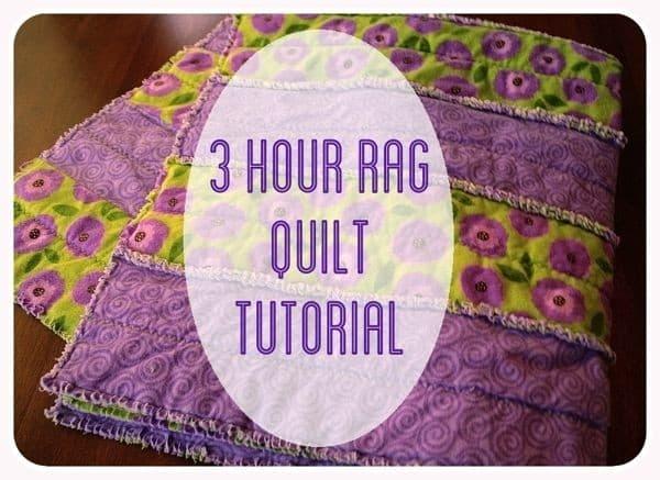 3 hour rag quilt tutorial Elegant String Pieced Rag Quilt Pattern