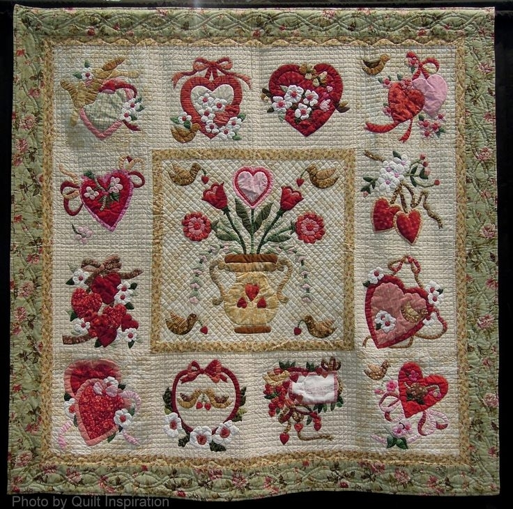 36 best vintage valentine quilt images on pinterest vintage Unique Vintage Valentine Quilt Gallery