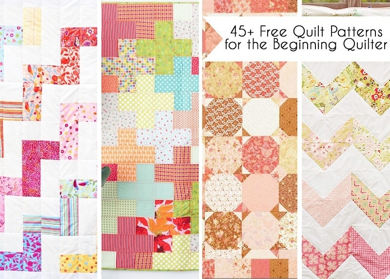 45 free easy quilt patterns perfect for beginners Interesting Square Block Quilt Patterns Gallery