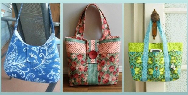 5 lovely diy tote bags carry everything in style quilting Stylish Quilted Bags And Totes Patterns
