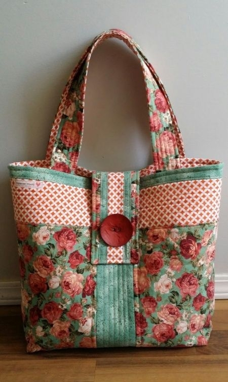 5 lovely diy tote bags carry everything in style tote bag Modern New Fabric Quilted Tote Bags Inspirations