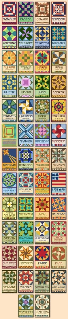 50 state quilt blocks with aqs Elegant State Quilt Block Patterns Gallery