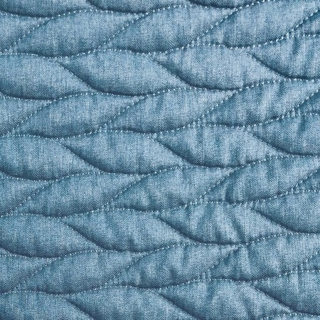 56in pre quilted fabric blue Elegant Pre Quilted Fabric By The Yard