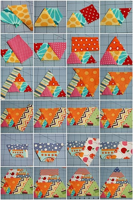 60 degree triangle scrappy quilt tutorialmagnoliabayquilts Elegant 60 Degree Triangle Quilt Inspirations