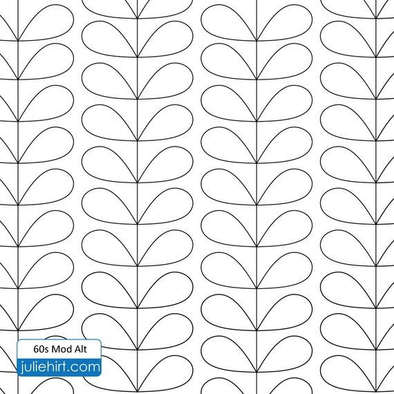 60s mod longarm quilting digital pattern for edge to edge Stylish Statler Stitcher Quilting Patterns Inspirations