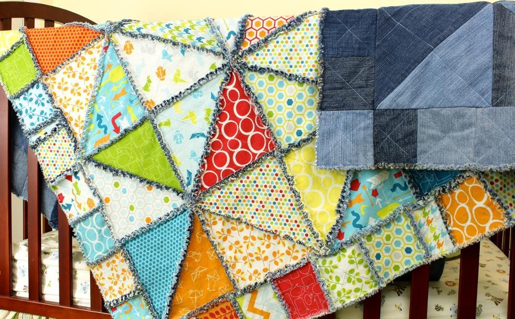 7 dazzling denim quilt patterns Stylish Denim Patchwork Quilt Patterns Inspirations