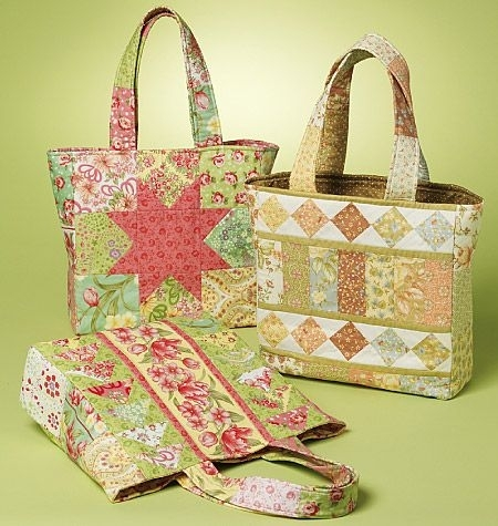 81 best tote handbag patterns images on pinterest bag Modern New Fabric Quilted Tote Bags Inspirations