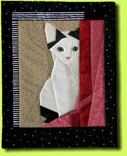 92 best animal quilts images on pinterest mini quilts Cool Cat Quilt Block Patterns Inspirations