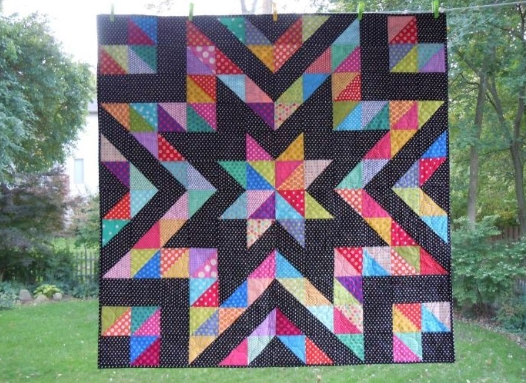 a beautiful collection of half square triangle quilt patterns Cozy Quilts Using Half Square Triangles Gallery