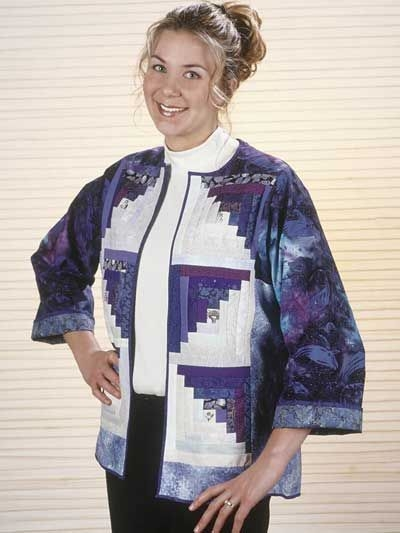 a free jacket pattern using a log cabin design in fresh Interesting Quilted Sweatshirt Jacket Pattern Inspirations
