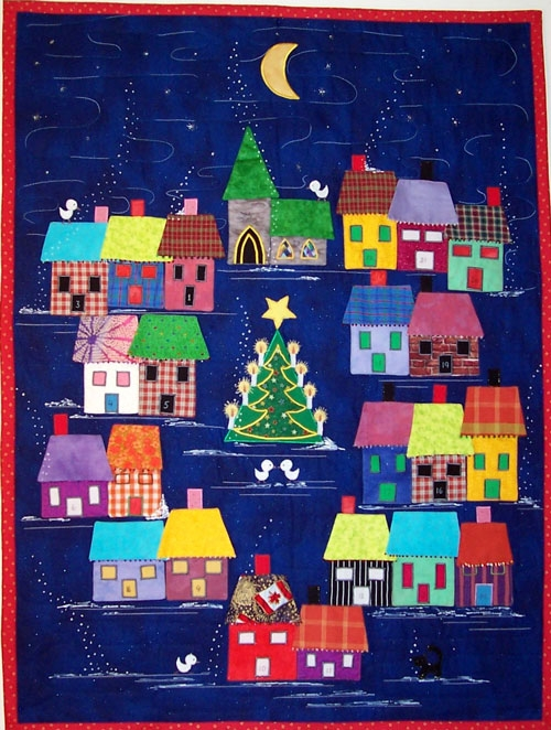 advent calendar village pattern lisa girard tivoli quilt Modern Advent Calendar Quilt Pattern Gallery