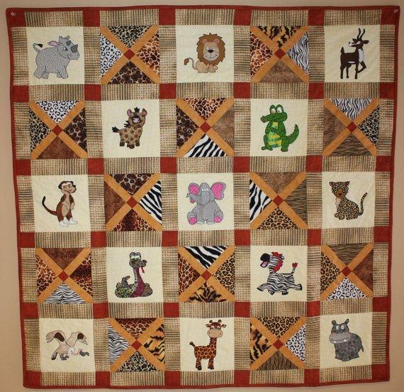 african safari animal applique pdf ba quilt pattern easy Stylish Animal Print Quilt Patterns Inspirations