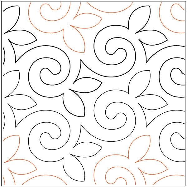 alfalfa quilting pantograph pattern sarah ann myers Unique Quilting Pantograph Patterns
