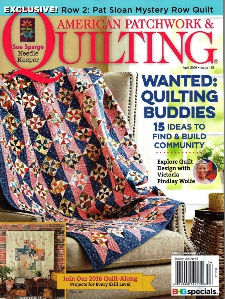 american patchwork quilting april 2016 issue 139 Elegant American Patchwork And Quilting Patterns