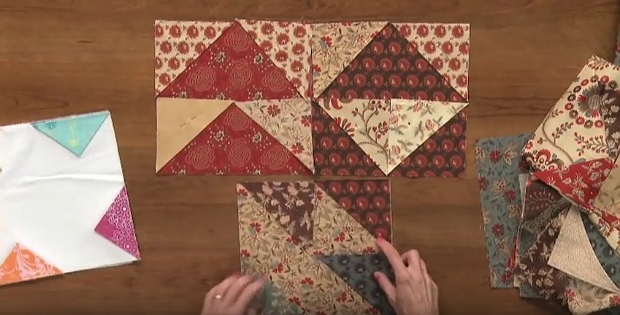 an easy fold and sew method for quick blocks quilting Cozy Fold And Sew Quilting Method Gallery