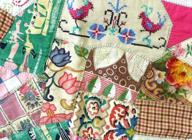 antique patchwork quilts ebay vintage patchwork duvet cover Interesting Handmade Patchwork Quilt Vintage Gallery