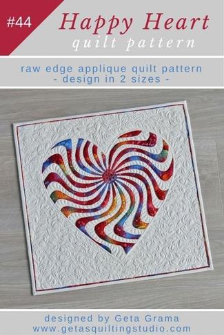 applique heart quilt pattern happy heart Modern Heart Applique Quilt Patterns