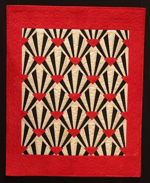 art deco style quilt josette schnegg quilting paulette Stylish Art Nouveau Quilt Patterns