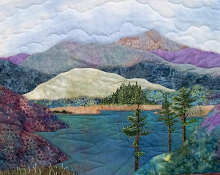 art landscape quilt patterns 206 on the lake quilt Cool Landscape Quilting Patterns Gallery