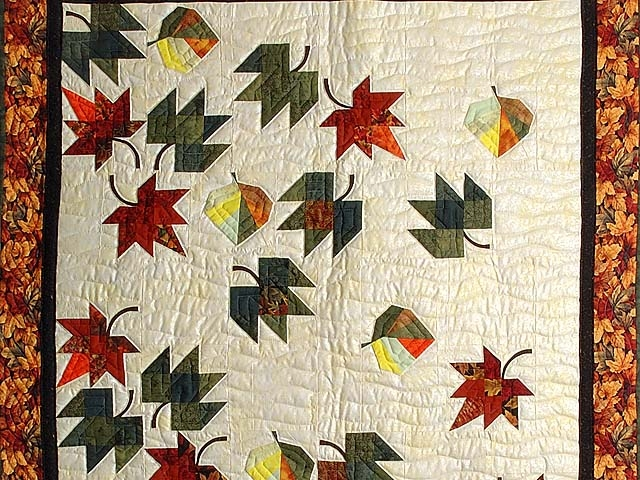 autumn leaves quilt wonderful meticulously made amish Cool Fall Leaves Quilt Pattern Gallery