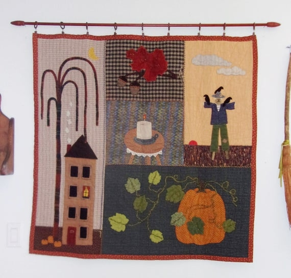 autumn seasonal quilted wall hanging paper pattern Seasonal Quilted Wall Hanging Patterns