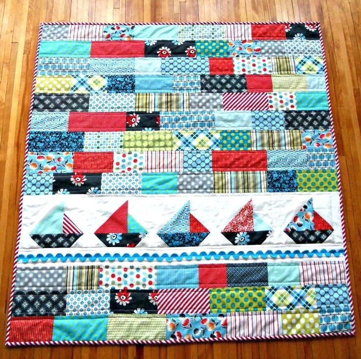 ba boy quilts patterns ba boy patchwork quilt pattern Cozy Patchwork Quilt Pattern For Baby Boy Gallery