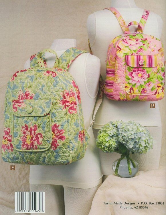 backpack free pattern backpacks pattern book cindy Cozy Quilted Backpack Pattern Gallery