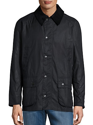 barbour ash waxed corduroy trim jacket Cool Barbour Vintage Quilted Jacket With Cord Collar And Trims