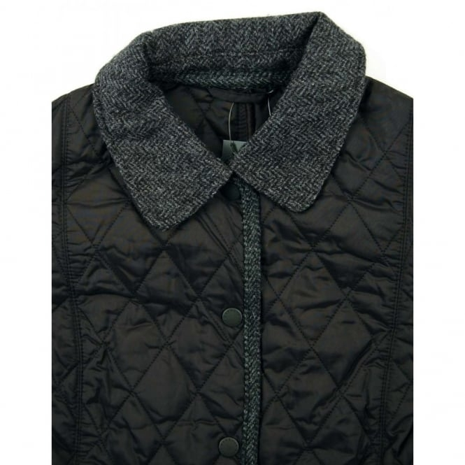 barbour ladies vintage tweed quilt jacket black Cool Barbour Vintage Tweed Quilted Jacket