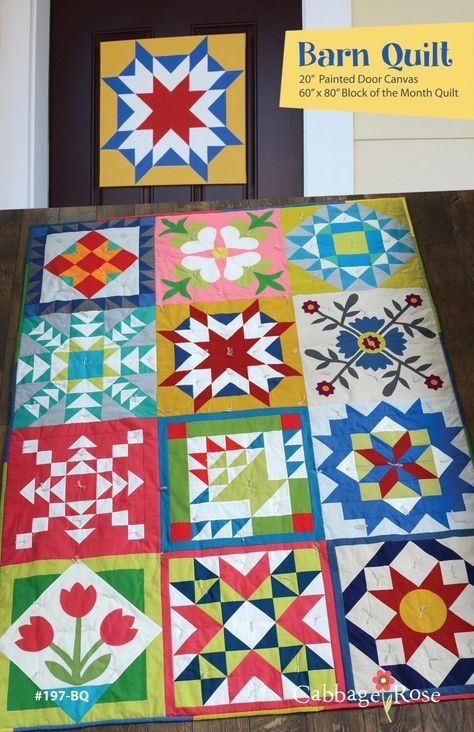 barn quilt pattern cabbage rose quilts paint your own Cool Make Your Own Quilt Pattern