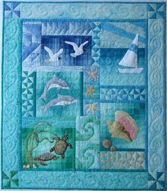 beach themed bedding australia the sea wall quilt pattern Modern Quilting Patterns Australia Gallery