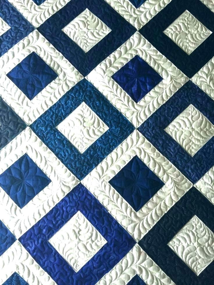 beautiful white quilt patterns lferso Unique Blue And White Quilt Patterns Gallery