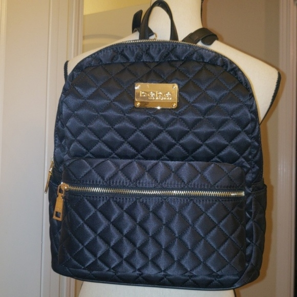 bebe black quilted pattern backpack nwt Cozy Quilted Backpack Pattern Gallery