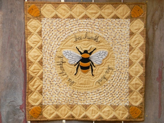 bee humble wool applique quilt pattern Interesting Wool Applique Quilt Patterns