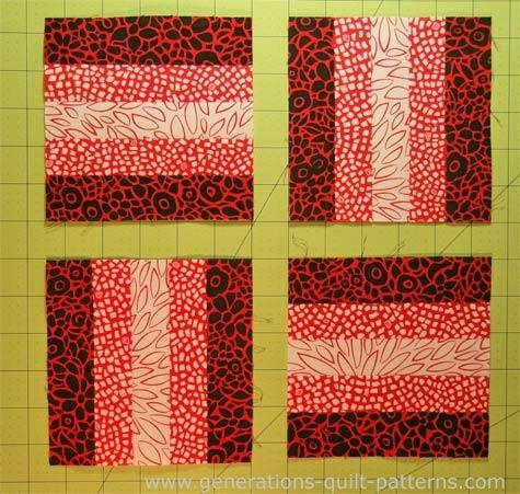 beginning quilting rail fence quilt block tutorial Elegant Railroad Quilt Block Pattern