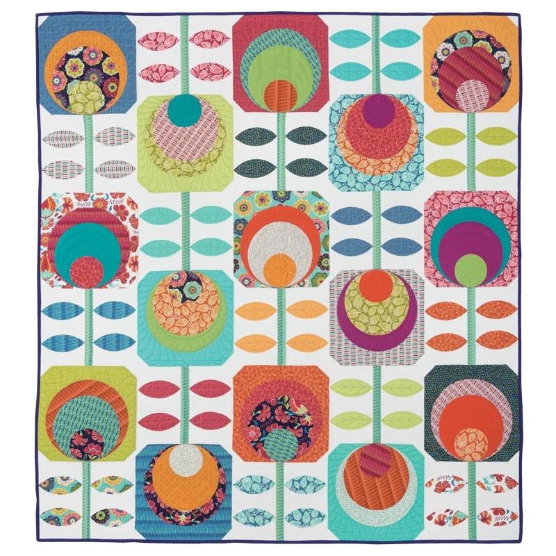 bernina videos flower power swirly girls Modern Flower Power Quilt Pattern Gallery