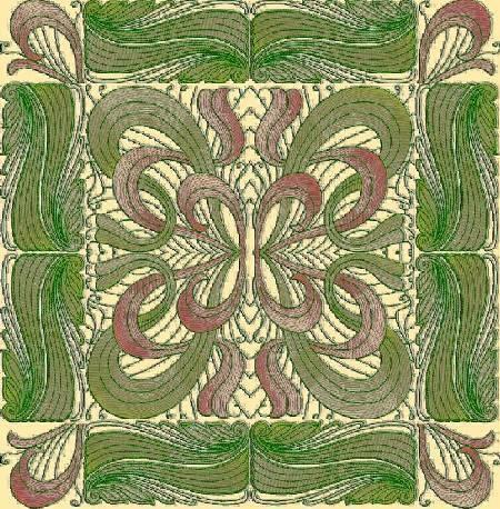 bfc1170 art nouveau quilt set Stylish Art Nouveau Quilt Patterns