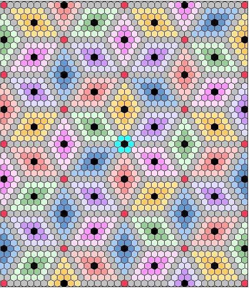 birthday wishes quilting hexagon quilt pattern hexagon Cozy Hexagon Quilts Layout