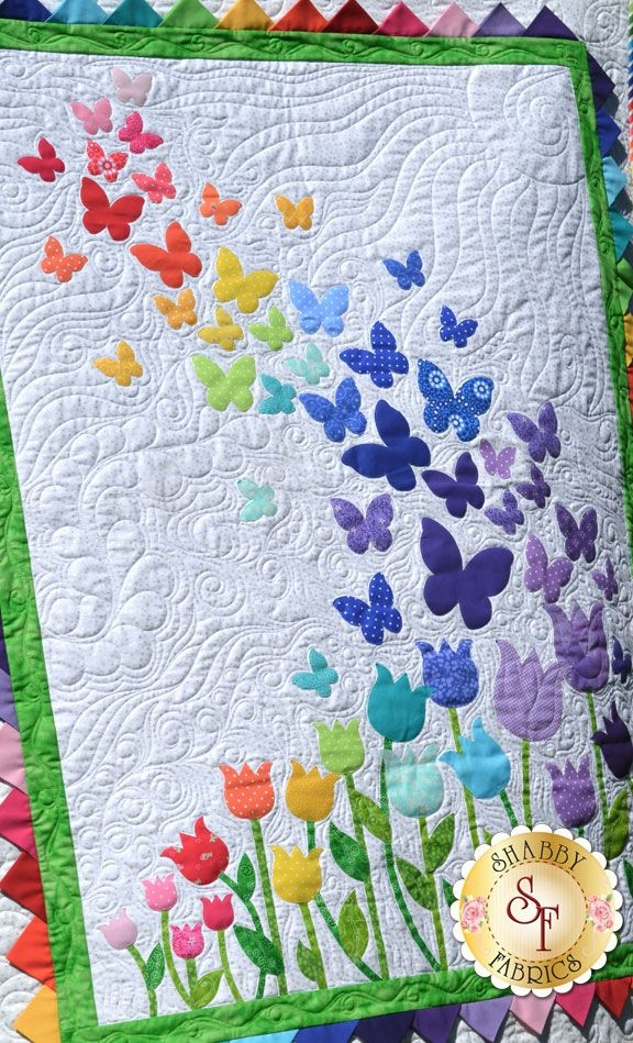 blooming butterflies quilt kit laser cut quilts Stylish Butterfly Patterns For Quilts Inspirations