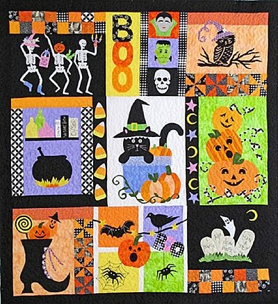 boo halloween quilt pattern Stylish Halloween Quilting Patterns Gallery