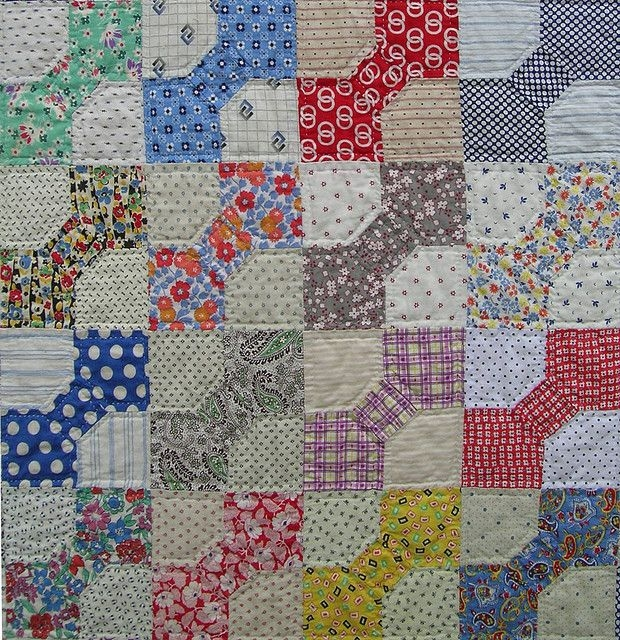 bow tie quilt love it vintage quilts vintage quilts Cool Bow Tie Quilt Block Pattern Gallery